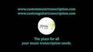 Mars | Patrick Goble | Custom Music Transcription | Custom Guitar Transcription