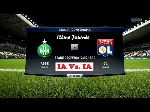 Saint-Etienne - Lyon [FIFA 18]   Ligue 1 Conforama 2017-2018 (12ème Journée)   IA Vs. IA
