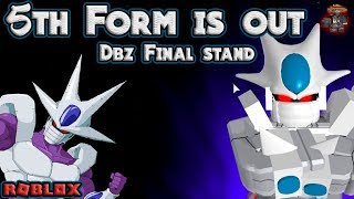 5th Form is out for Arcosian race | Dbz Final Stand - Roblox