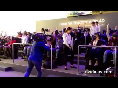 Samsung Gear VR Theater with 4D at Mobile World Congress 2016