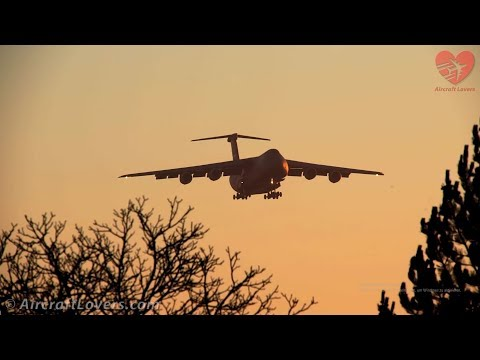 First Ever C-5 Super Galaxy Landing + Takeoff @ Berlin TXL│Barack Obama Visit│14.11.16