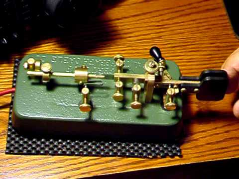 Bug Telegraph Key W5PEH POSTAL BUG