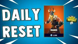 NEW MAGNUS SKIN - Fortnite Daily Reset & NEW Items in Item Shop