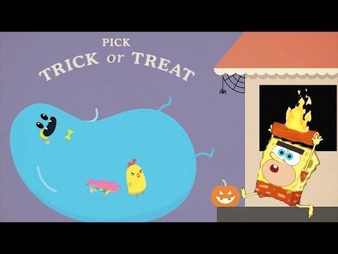 Dumb Ways To Die Vs SpongeBob's Game Frenzy! - Trick Or Dead!  | Nickelodeon Kids Games