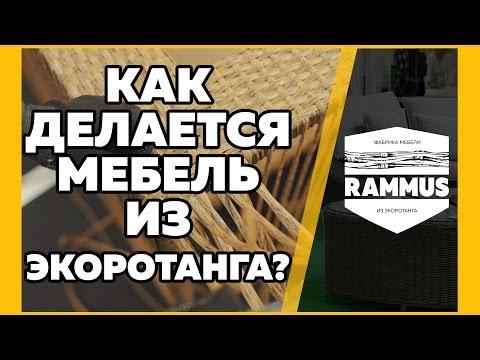 Как делается мебель из искусственного ротанга (экоротанга)?. Изготовление на фабрике RAMMUS