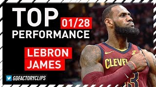 LeBron James TOP Full Highlights vs Pistons - 25 Pts, 14 Ast, 8 Reb | 2018.01.28