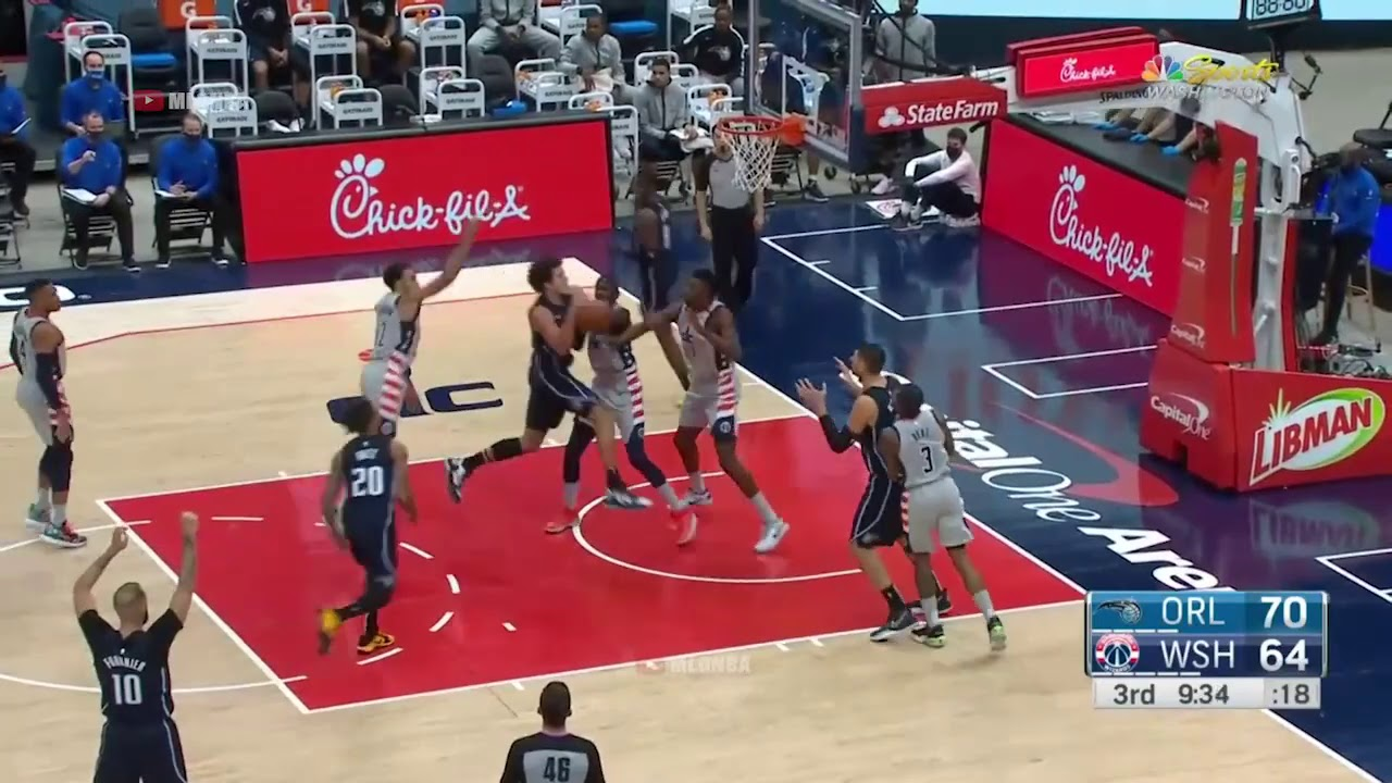 Thomas Bryant With The Putback Slam On The Wrong Basket Youtube