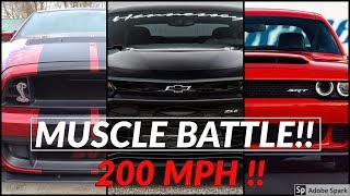 Shelby Mustang GT500 vs Dodge Demon vs Camaro ZL1 || Top speed and Acceleration Comparison