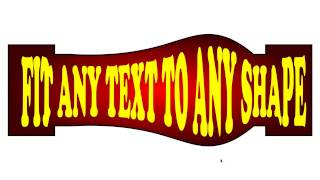 Fit Any Text To Any Shape (CorelDraw Tutorial)