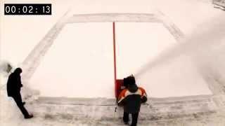 Уборка снега лопатой и бензиновым снегоуборщиком