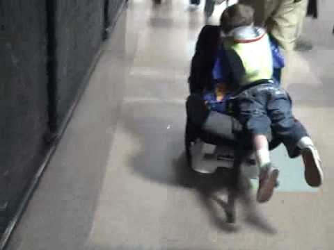 Using the Traveling Toddler to get through the airport - YouTube
