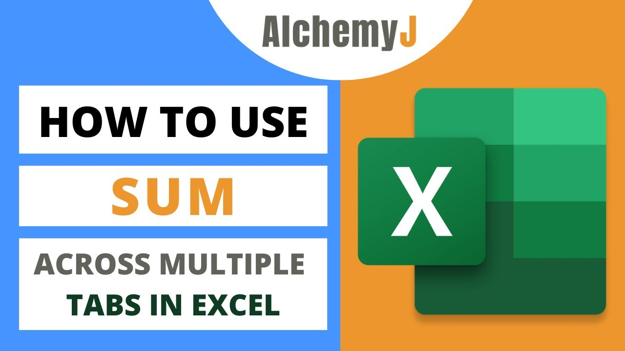 Basic Excel Function - How to use SUM Function Across Multiple Tabs