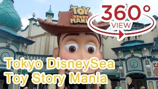 Tokyo DisneySea Toy Story Mania Complete Ride 4K Quality (360° Videos )