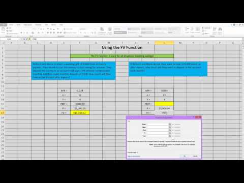 FV Function in Excel
