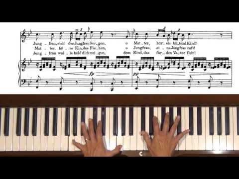 Schubert Ave Maria D. 839 Voice Piano Accompaniment Tutorial