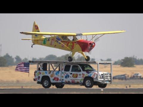 Kent Pietsch Trucktop Landing .. California Capital Airshow 2017 (4K)