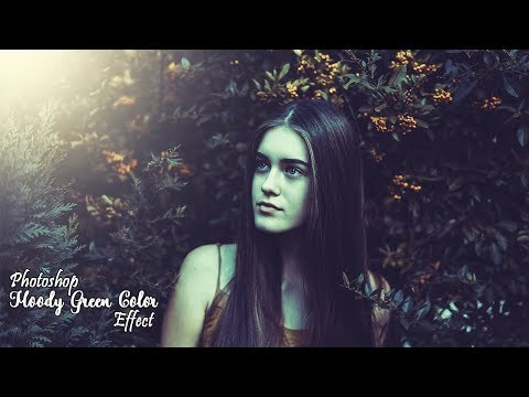 Photography Photo Editing In Photoshop Tutorial | Moody Green Color Effect thumbnail