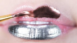 Metallic | Glitter Lips Makeup Tutorial