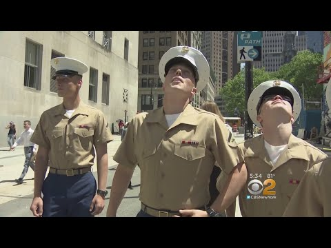 Fleet Week: Marines Hit The Streets