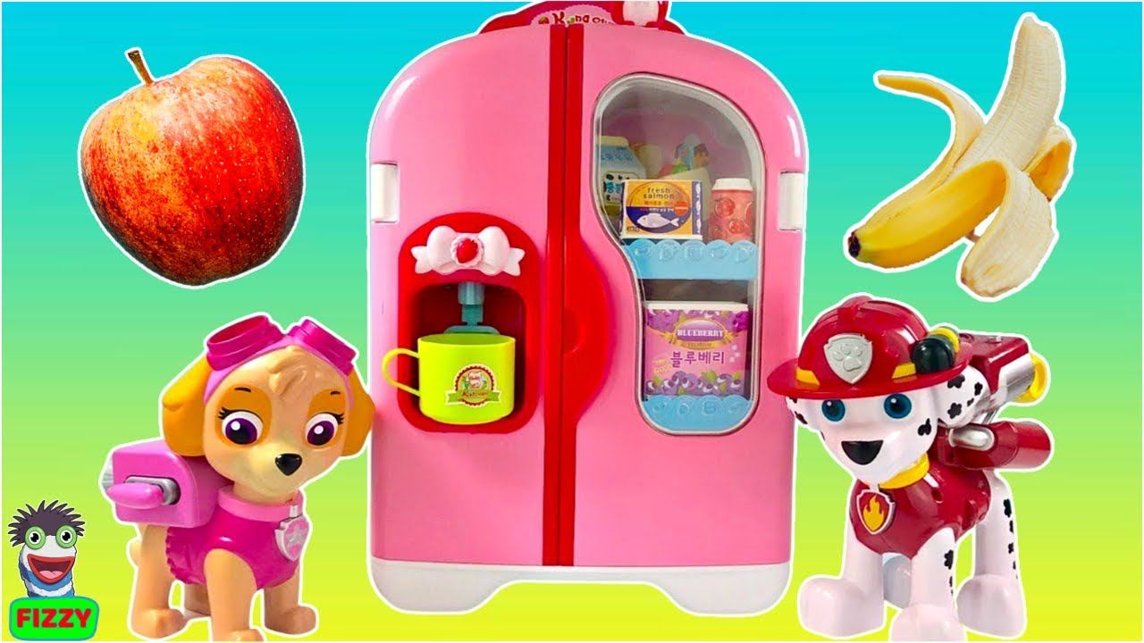 Fizzy Learns Food Names with Paw Patrol Learning Video for Kids