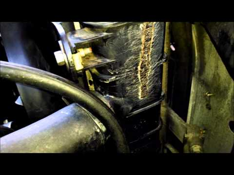Ford Explorer radiator repair soldering iron and epoxy by Froggy