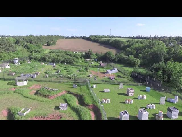 Crossfire PEI Adventure Paintball - Drone Flyover of Fields