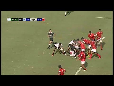 Fiji Warriors score try from deep
