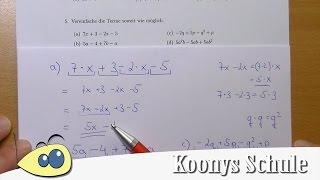 Terme so weit wie möglich vereinfachen - 4 Beispiele vorgerechnet | 5/8 Blatt 2826