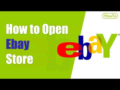 How To Open An Ebay Store - Create Ebay Account