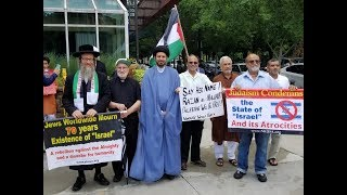 Rabbi Feldman at Quds Day rally in Atlanta