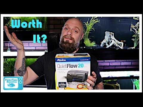 Aqueon 20 Quiet Flow Hang On Back Filter Unboxing | Assembly | Initial Thoughts