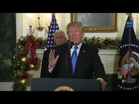 President Trump Gives a Statement on Jerusalem