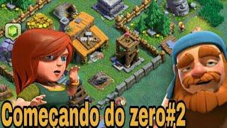 Clash of clans começando do zero:2 Base do construtor!!