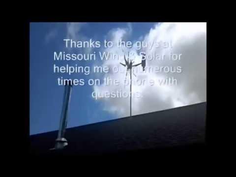 Missouri Rebel 800 watt wind turbine heating water free solar hot water