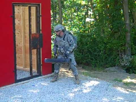 Battering Ram Door Breach C& Buckner & Battering Ram Door Breach Camp Buckner - YouTube