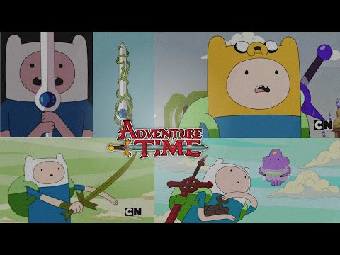 Adventure Time | Finn Gets All New Swords | (Clips)