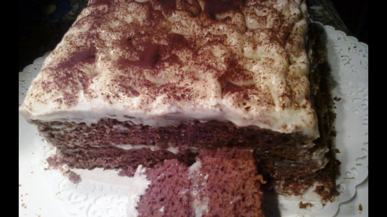 Торт сметанник с какао