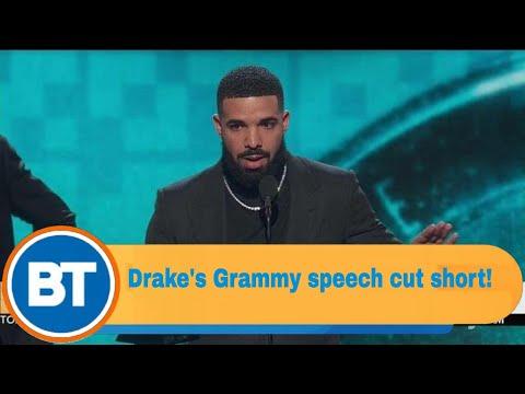 Drake's Grammy acceptance speech is cut short! Mp3