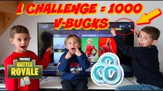 DES CHALLENGES CONTRE DES V-BUCKS ! FORTNITE BATTLE ROYALE