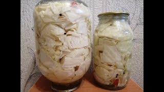 Маринованная капуста кусочками Лучший рецепт