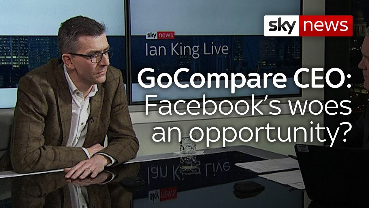 GoCompare Chief Exec: Facebook crisis 'could be a seminal moment for other companies'