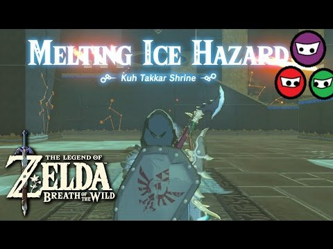 Zelda Breath of the Wild | Kuh Takkar Shrine  | Melting Ice Hazard | Frost Blade Location