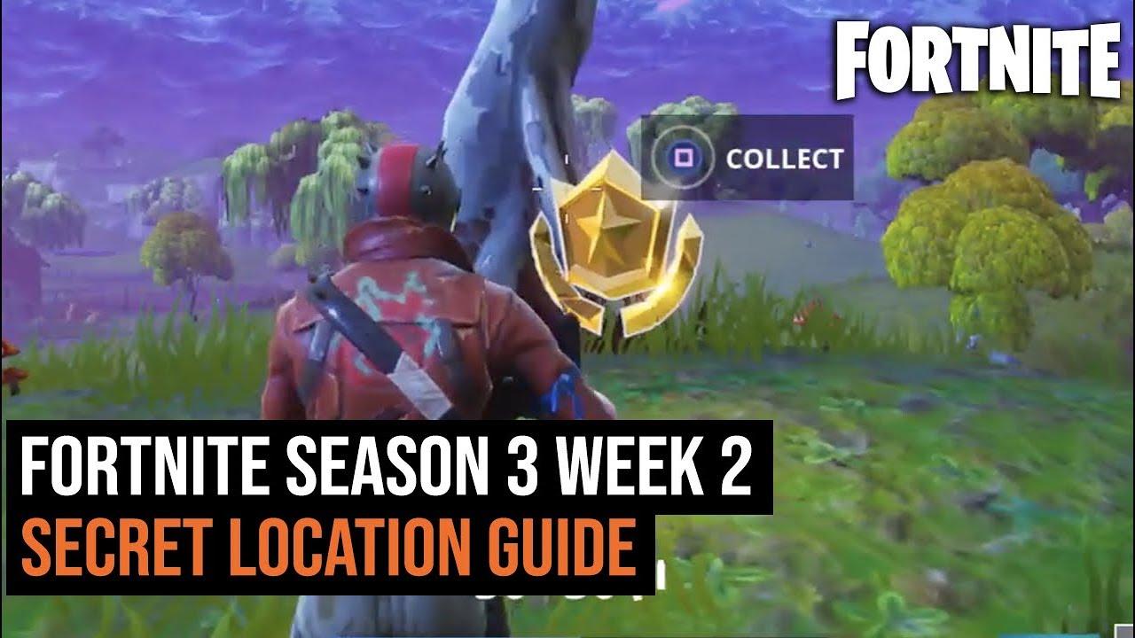 Fortnite Battle Royal Season 3 Week 2 Secret Location