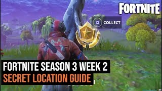 Fortnite Battle Royal - Season 3 week 2 secret location challenge solution