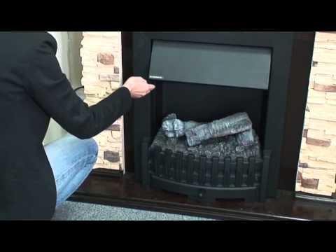Danville Chrome Электрический Очаг Dimplex Opti-myst. Видео 2