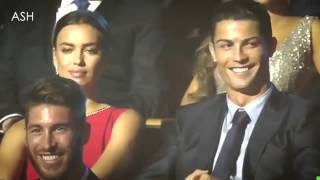 رد فعل إيرينا شايك على مزاح مقدمة حفل مع كريستيانو رونالدو