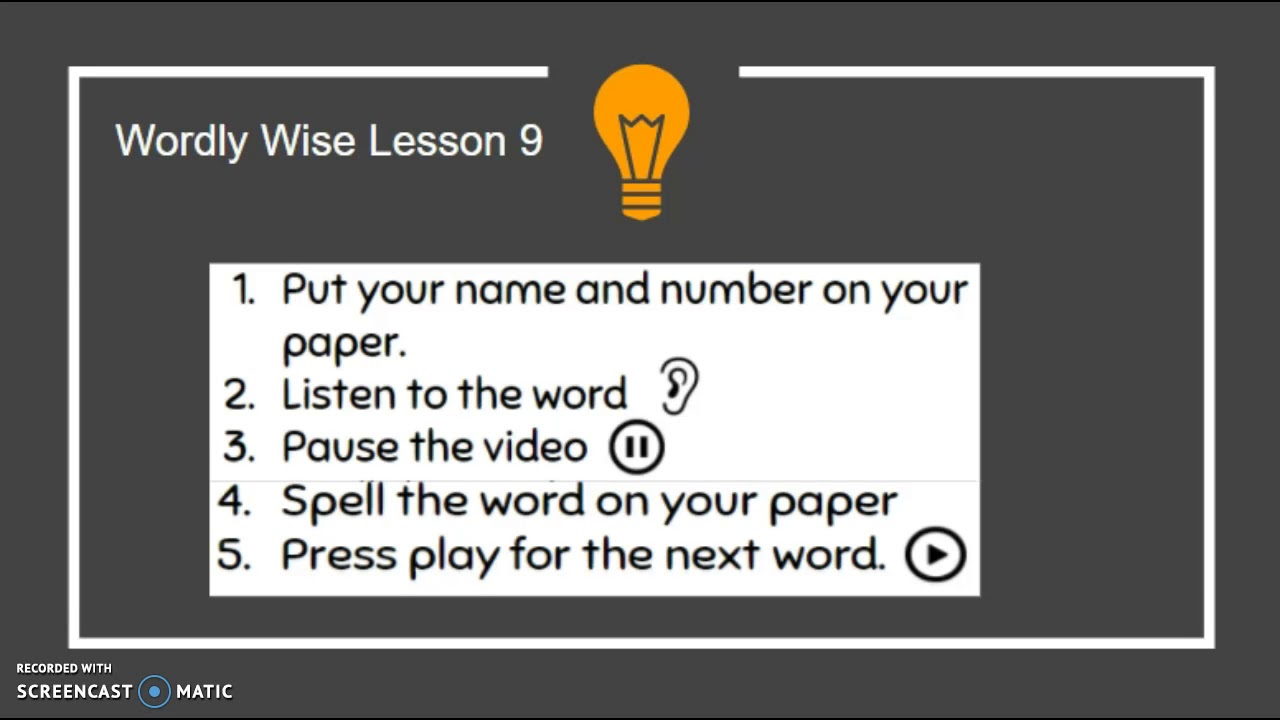 wordly wise lesson 9 youtube