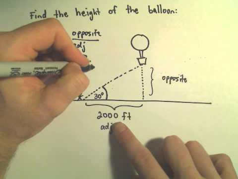 Finding The Height Of An Object Using Trigonometry, Example 1