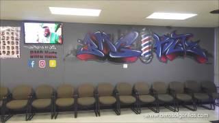 Aerosol Gorillas paints Barber shop
