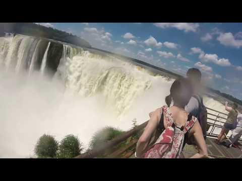 iguazou cataracts day trip. brazil argentina